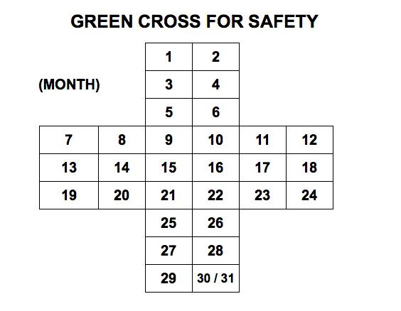 Blank green cross