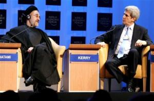 Le voici avec un ancient client,Mohammed Khatami lors du forum économique de Davos ,en 2008.