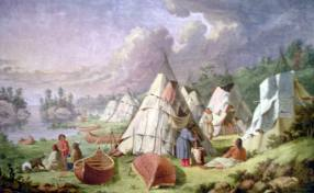 Ojibway village