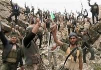"""Photo reçue cette nuit d'un groupe de la frauduleuse """"Armée de Libération Syrienne"""" mise au point par des agents de la CIA américaine."""