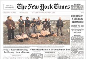The recent frontpage of the New York times.