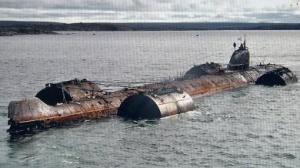 Transport d'une épave  au moyen de caissons flottants.