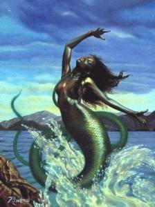 """Mami-wata,principale """"divinité maritime"""" de la tradition ancestrale Africaine"""