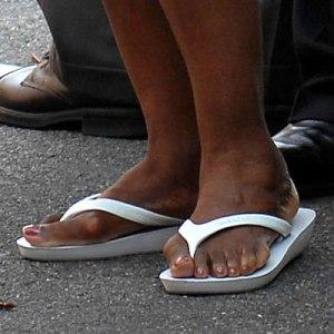 Les pieds d'Oprah Winfrey.