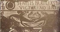 On retrouve également des descriptions de dinosaures sur des mosaïques romaines du deuxième siècle.