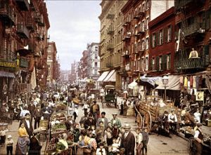 Mulberry Street à New York vers 1900.