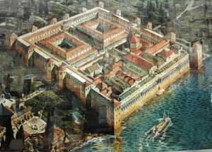 Le fameux palais de Dioclétien à l'époque de l'empereur.