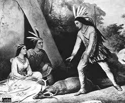 Représentation de Deganawida ,le Grand Pacificateur et fondateur de la Confédération d'Haudenausanée.
