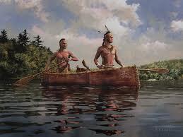Iroquois en canot