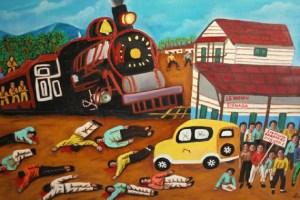 Massacre des bananeraies peinture