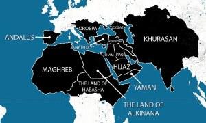 Le Grand Califat: Une carte montrant prétendument les zones  prévues dans les  plans  des terroristes d'avoir sous son contrôle dans les cinq ans a été largement partagée en ligne. Ainsi que le Moyen-Orient, l'Afrique du Nord et de vastes zones de l'Asie, elle révèle aussi l'ambition ISIS pour s'étendre dans l'Europe. L'Espagne, ou la loi  musulmane a régné jusqu'à la fin du 15ème siècle, ferait partie du califat, tout comme les pays des Balkans et de l'Europe de l'Est, jusqu'à comprendre  l'Autriche.