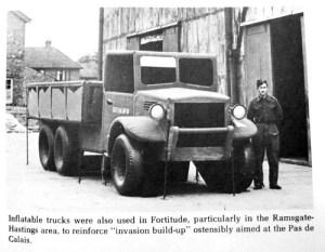 Un camion  gonflé...de l'opération.
