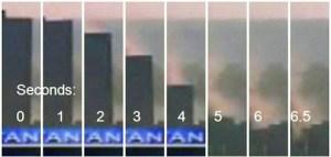 Détails de l'écrasement du WTC-7 sur lui-même.