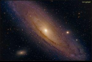 La grande galaxie d'Andromède...