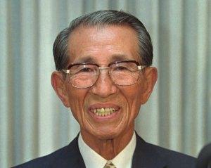 Hiro Onoda peu avant sa mort ,en 1996.
