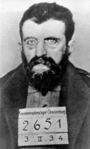 Erich Muhsam,arrêté quelques heures après l'incendie du Reichstag!Un accusé parfait pour un procès!
