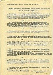 Les lois de Nuremberg.