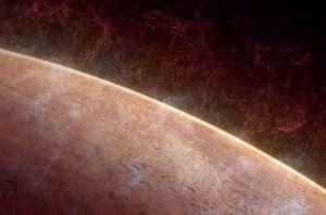 On pense que la décroissance du champ magnétique fois-mondiale de Mars, le vent solaire dépouillé grande partie de début, l'atmosphère épaisse de la planète, permettant à la lumière UV solaire pour briser les molécules d'eau en dehors. Briquet hydrogène sorti dans l'espace, en se concentrant la forme plus lourd. Certains de l'hydrogène peut également quitté en raison de la faiblesse de gravité de la planète. Crédit: NASA / GSFC