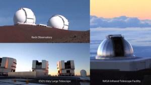 Trois des meilleurs observatoires infrarouges dans le monde ont été utilisés pour étudier la normale à l'abondance de l'eau lourde dans l'atmosphère de Mars, en particulier les calottes polaires, pour créer une carte mondiale de la teneur en eau de la planète et en déduire un ancien océan. Crédit: NASA / GSFC