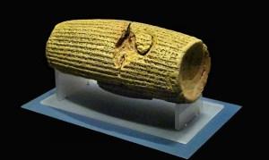 Le Cylindre de Cyrus découvert en 1879 atteste les écrits de la Bible sur le  retour dans leur pays d'origine des déportés