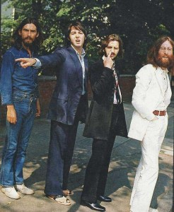 Les Beatles juste avant la photo classique d'Abbey Road.