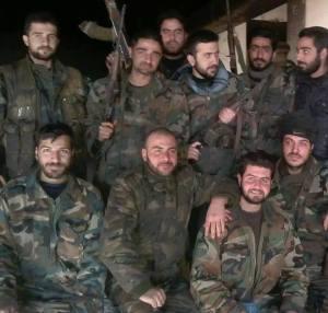 Groupe de soldats syriens.