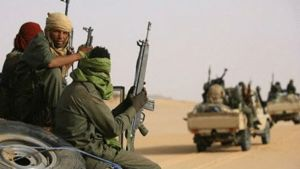 Voici à quoi ressemblent les djihadistes d'Al-Mourabitoune dans le désert  au nord du Mali.