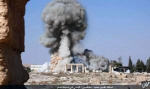Destruction du temple de Baal,à Palmyre.