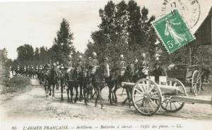 Carte postale  française Artillerie