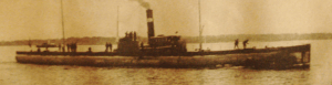 Première Guerre Mondiale-le premier sousmarin américain,le Merchantman.