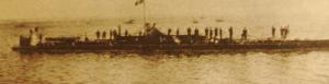 Première Guerre Mondiale-un des premiers u-boats de la Kriegsmarine allemande.