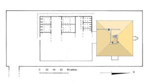 Plan du complexe funéraire d'Amenemhat III à Hawara…