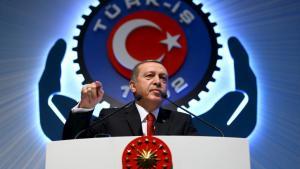 Le pseudo président,mais réel dictateur Erdogan de Turquie.