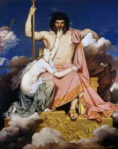 Jupiter et Thétis:une oeuvre du 19 ième siècle.
