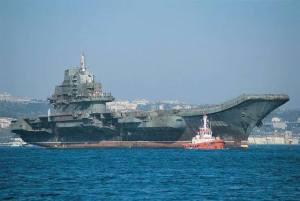 Le porte-avions chinois Liaoning,le plus grand au monde.
