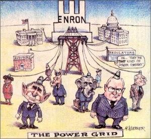 """Le réseau du """"courant"""" américain selon Enron, vu par le dessinateur Matt Wuerker"""
