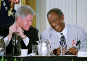 Bill Clinton en compagnie de Bill Cosby.