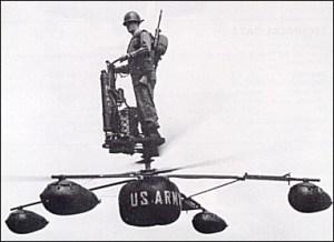 Pour complémenter les manœuvres d'appui aérien et les missions de reconnaissance, quelqu'un a décidé de créer le De Lackner HZ-1. Le pilote contrôlait les déplacements de cette plateforme volante en penchant son corps dans la direction souhaitée. Malgré l'achat de nombreux modèles, l'armée avait fait le choix de ne pas utiliser le De Lackner en raison de divers problèmes comme son pilotage difficile.