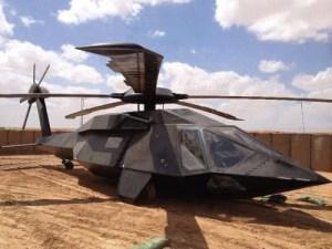 Le Sikorsky UH-60 modifié et transformé en Stealth Black Hawk. Selon la propagande américaine,deux de ces hélicoptères ont été capables de s'infiltrer dans la pseudo cache de Ben Laden sans être détectés par les radars, avec à leur bord 25 U.S. Navy Seals. Les hélicoptères étaient si silencieux que personne ne s'était rendu compte de leur présence avant qu'ils ne soient au-dessus de leurs têtes. Pendant le raid, un des hélicoptères s'est écrasé.Fait à noter:lea totalité des Seals ayant réussi la soi-disante mission,sont tous morts de mort violente rapidement.