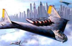 L'Arado 555 aurait été le premier bombardier à réaction de portée intercontinentale. Il a été coçu pour transporter une ou deux bombes atomiques pour les lancer au-dessus de New York. Son design montre une avance d'un minimum de 20 ans sur les autres technologies de l'époque. Un jeune américain en a fait une maquette en 2013 qui vola très bien.