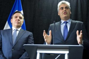 Vous aurez reconnu François Rebello parlant en conférence de presse ,en compagnie de François Legault. Il venait de joindre la CAQ.