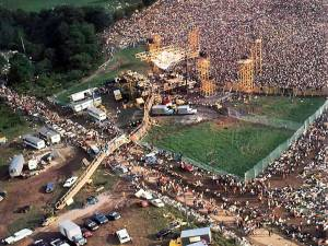Photographie aérienne du site,en 1969.