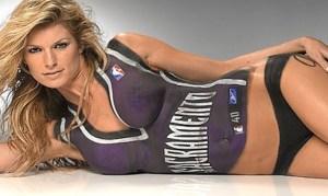 Marisa Miller Une mannequin et une actrice. Nous ne sommes pas inquiet sur son bon feeling avec l'équipe des Sacramento Kings.