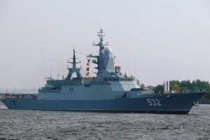 Steregushchy (numéro de coque 532) Cette corvette fabriquée par la Russie pèse 2.200 tonnes. les pays d'Afrique du Nord comme l'Algérie se sont récemment montré intéressé à obtenir ce type de navire de guerre.