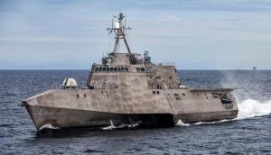 USS Coronado Comme il a été construit en gardant à l'esprit les nécessités de querres côtières , le navire  n'est pas si grand. Mais, il est un navire furtif et très rapide.