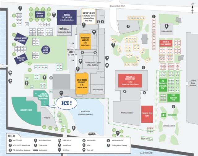 une carte du site de Word on the Street 2019