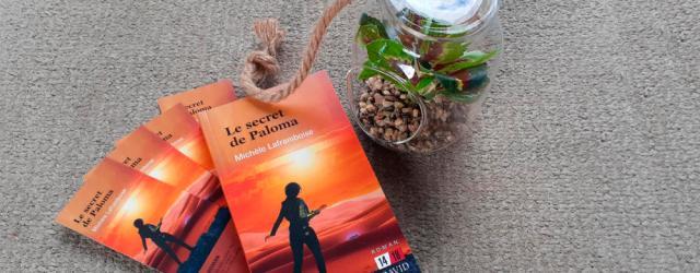 Roman de science fiction le secret de Paloma, avec une plante en pot
