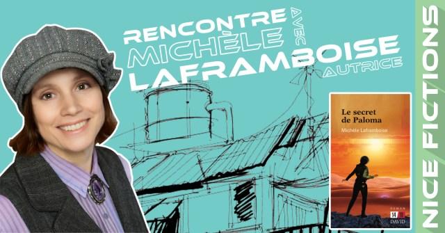 Photo de Michèle Laframboise avec sa casquette steampunk et de son roman Le secret de Paloma. (Photo de l'auteure par Lisa Mininni)
