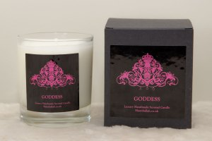 Goddess scented candle