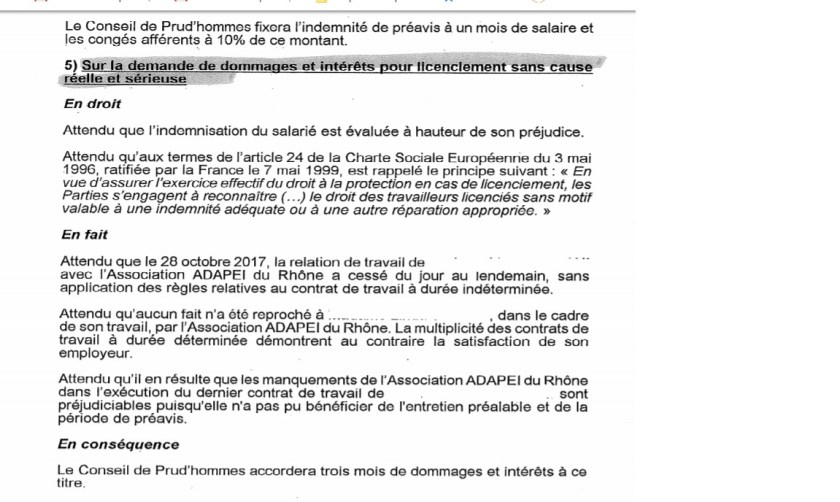 CPH Lyon 21 décembre 2018 barème macron inconventionnalité act III